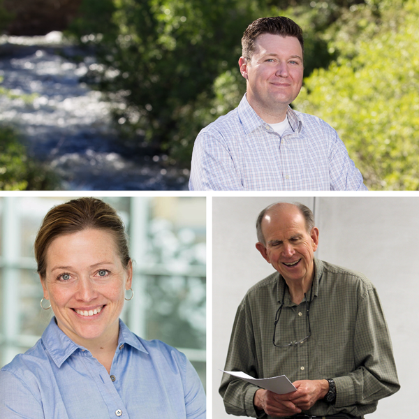 Featured researchers James Stagge, Bethany Neilson, and Darwin Sorensen