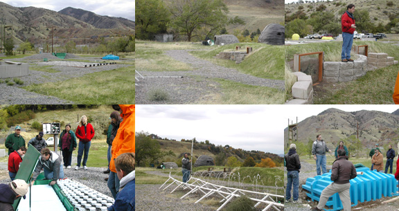 collage of Huntsman Demonstration Site photos
