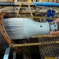 Performance testing fixed cone valve and hood