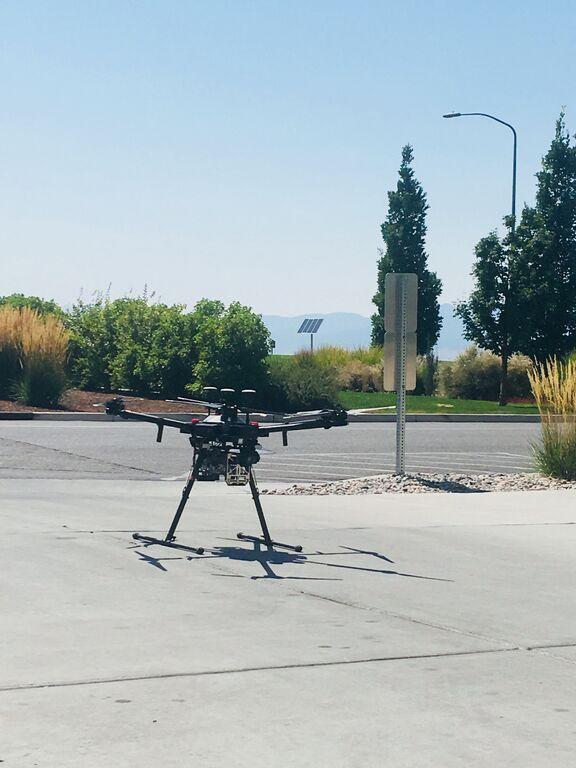 UAV Matrice 600 Pro on USU Campus