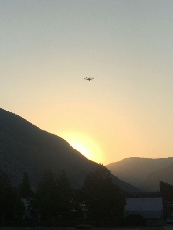 UAV Matrice 600 Pro over USU Campus