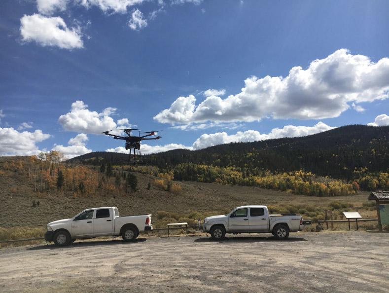 Matrice Launching at Lake Creek