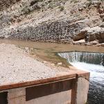 Virgin River Fish Barrier sediment build up