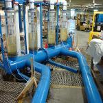 Becks Run raw water suction header model